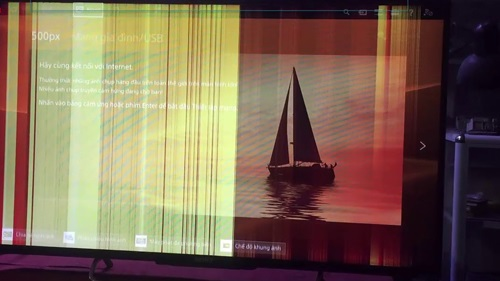 Tivi Sony bị sọc dọc màn hình