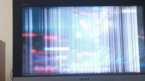 Màn hình Tivi Sony bị sọc dọc